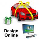 Conception de rubans cadeaux en ligne