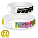 Bracelets en papier avec impression couleur