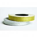 Rouleaux de ruban en argent métallique et or métallique pour les bracelets en textile