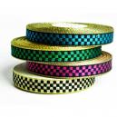 Rouleau de ruban fantaisie en damier métallique pour bracelets en textile