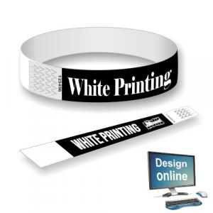 Bracelets en papier blanc imprimé Concevez vous-même