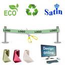 Créez en ligne un ruban d'inauguration écologique et durable.