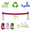 Ruban d'inauguration sans impression. Écologique, écologique et durable.