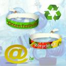 Bracelets de fête en textile en polyester PET recyclé