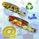 Rubans cadeaux durables et recyclés en tissu ECO RePET