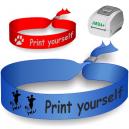 Bracelets textiles imprimés sur une imprimante à transfert thermique JMB4+. Utilisé comme bracelets de festival