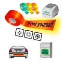 Imprimez-vous en utilisant l'imprimante thermique JMB4+ sur des bandes réfléchissantes