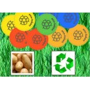 Jetons durables en amidon de pomme de terre
