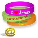 Bracelets en silicone imprimés avec logo et texte
