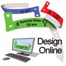 Concevoir des bracelets en plastique en ligne avec logo et texte