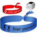 Bracelets textiles imprimés sur une imprimante à transfert thermique JMB4. Utilisé comme bracelets de festival