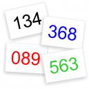 Numéros de course en stock pour livraison immédiate