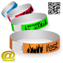 Les bracelets en papier envoient votre design et obtiennent une mise en page.