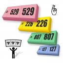 Tirage au sort des tickets de tirage 3 parties avec numérotation séquentielle