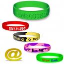 Bracelets en silicone faits sur commande avec votre texte et logo