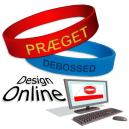 Concevez des bracelets de silicone en ligne avec votre texte et logo