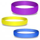 Bracelets en silicone vierges en couleurs