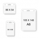 Poches transparentes pour cartes de différentes tailles