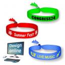 Concevez en ligne vos propres bracelets de festival de textile
