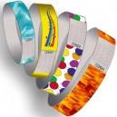Bracelets en papier avec motif imprimé