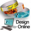 Bracelets en papier avec motif en ligne