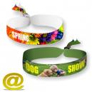 Bracelets festival en polyester imprimés en couleur
