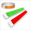 Bracelets en papier avec impression pour identification