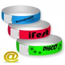 Bracelets en plastique avec serrure adhésive, envoyez votre design