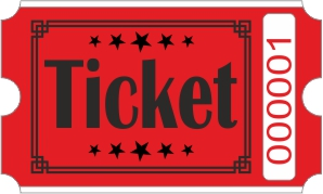 Billets Ticket - Rouge