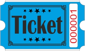 Billets Ticket - Bleu