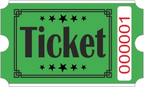 Billets Ticket - Vert