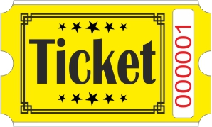 Billets Ticket - Jaune