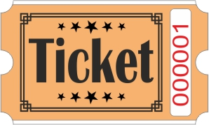 Billets Ticket - Orange