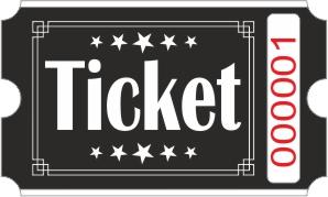 Billets Ticket - Noir