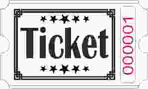 Billets Ticket - Blanc
